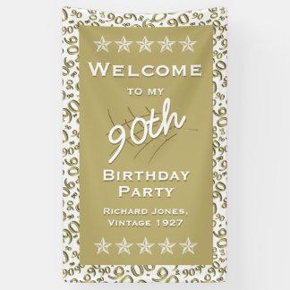 Banderoles Quatre-vingt-dixième fête d'anniversaire