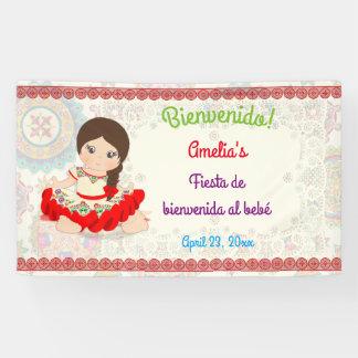 Banderoles Robe Niña d'Espagnol de petite fille