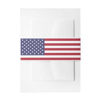 Bandes de ventre d'invitation de drapeau des bandeau de faire-part