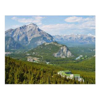 Banff Canada vu de la montagne Gondol de soufre Carte Postale