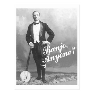 Banjo n'importe qui carte postale