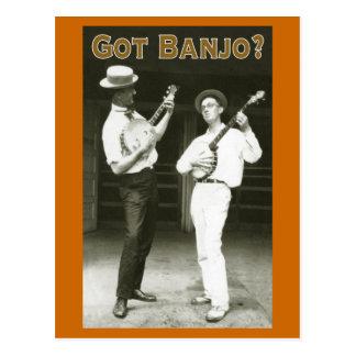 Banjo obtenu ? Carte postale