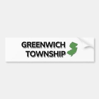 Banlieue noire de Greenwich, New Jersey Autocollant De Voiture