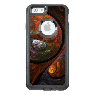 Banlieusard liquide d'art abstrait de connexion coque OtterBox iPhone 6/6s