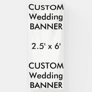 Banner 2.5 ' x 6 ' van het Huwelijk van de douane