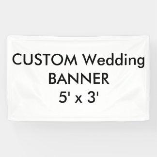 Banner 5 ' x 3 ' van het Huwelijk van de douane