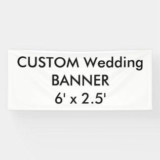 Banner 6 ' x 2.5 ' van de Douane van het huwelijk