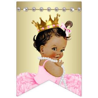 Bannière À Fanions Baby shower ethnique de princesse Pink Gold