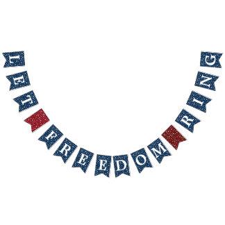 Bannière À Fanions Laissez les étoiles d'anneau de liberté