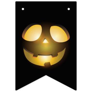Bannière À Fanions Lanterne effrayante d'o de Jack