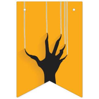 Bannière À Fanions Main bizarre de monstre