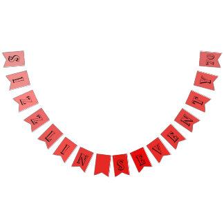 Bannière À Fanions Soixante-dixième fête d'anniversaire de Sizzlin
