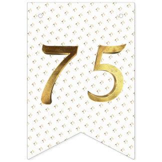 Bannière À Fanions soixante-quinzième Nombre d'or d'anniversaire de