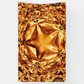 Bannière chic d'or d'en cuivre d'étoile élégante