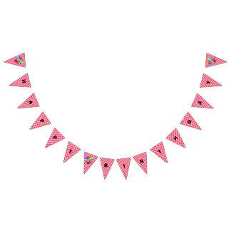 Bannière d'anniversaire--Guingan rouge