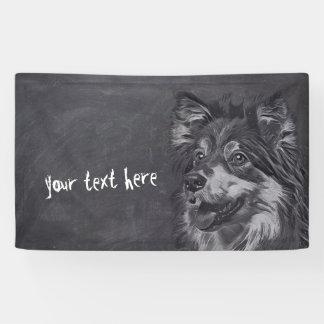 Bannière de coutume de peinture de chien de berger