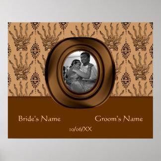 Bannière de main de henné (Brown) (mariage)