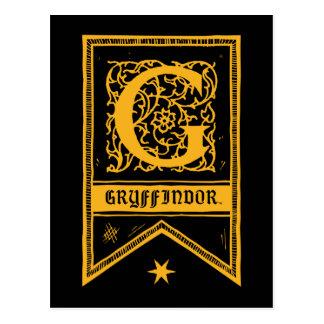 Bannière de monogramme de Harry Potter | Cartes Postales