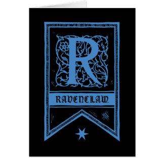 Bannière de monogramme de Harry Potter   Ravenclaw Carte De Vœux