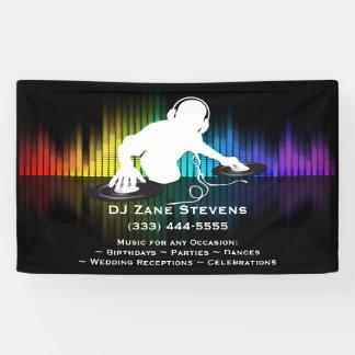 Bannière de rotation de vinyle du DJ