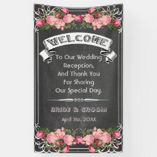 bannière de tableau noir de mariage, signe de