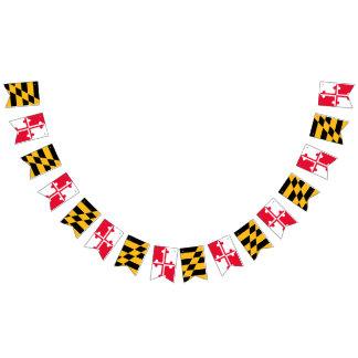 Bannière d'étamine de drapeau du Maryland -