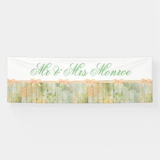 Bannière en bois florale rustique customisée de