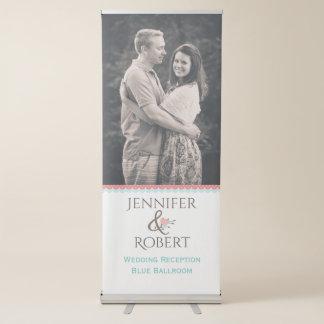 Bannière escamotable de mariage de photo élégante