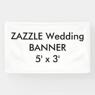 Bannière faite sur commande 5' de mariage x 3'