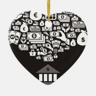Banque Ornement Cœur En Céramique