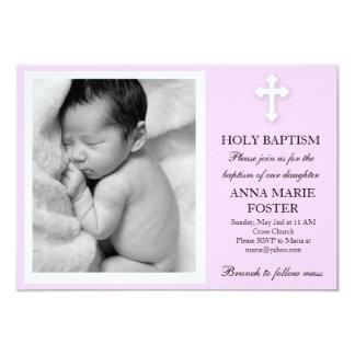 Baptême de fille carton d'invitation 8,89 cm x 12,70 cm