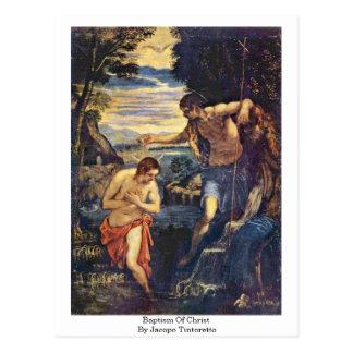 Baptême du Christ par Jacopo Tintoretto Carte Postale
