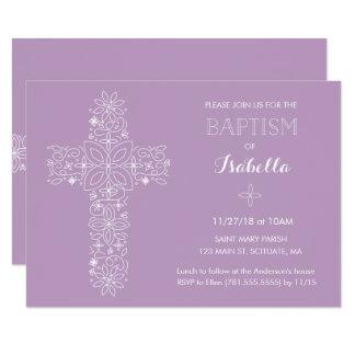 Baptême, invitation de baptême - bébé