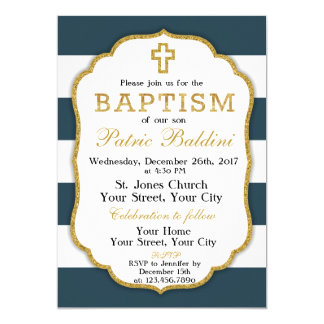 Baptême, invitation de baptême pour un GARÇON