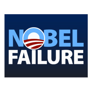 Barack Obama : Échec Nobel Carte Postale