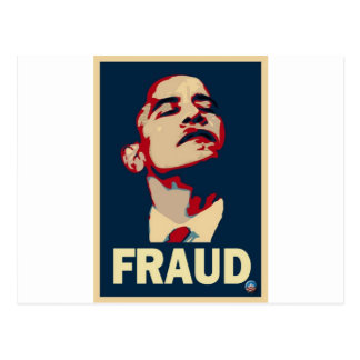 Barack Obama est une fraude Carte Postale