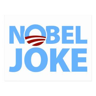 Barack Obama : Plaisanterie Nobel Carte Postale