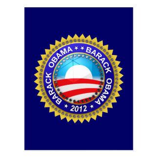 Barack Obama pour le président 2012 Carte Postale