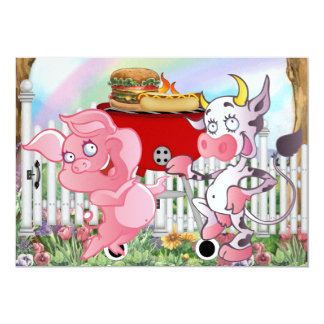 Barbecue - 4 juillet ! SRF Carton D'invitation 12,7 Cm X 17,78 Cm