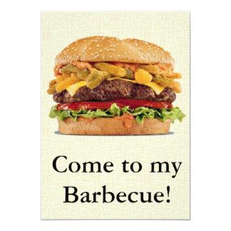 Barbecue Carton D'invitation 12,7 Cm X 17,78 Cm