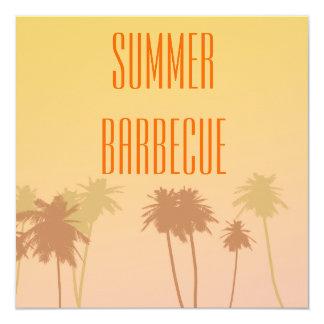 Barbecue d'été carton d'invitation  13,33 cm