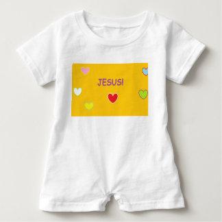 Barboteuse de bébé de coeurs de Jésus