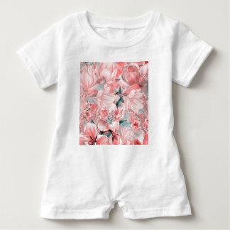 Barboteuse flowers2bflowers et #flowers de motif d'oiseaux