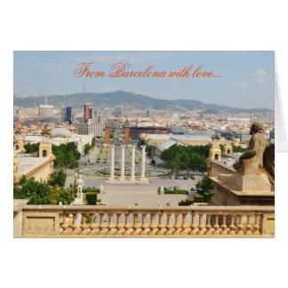 Barcelone, Espagne Carte