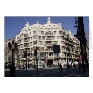 Barcelone, Espagne, Gaudi, carte de voeux