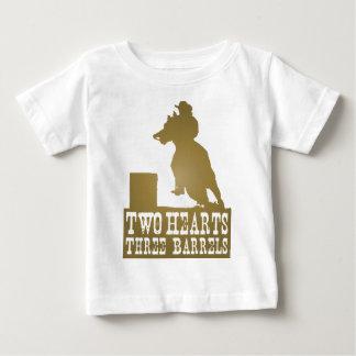 baril emballant le cheval de plouc de cow-girl t-shirt pour bébé