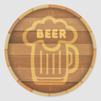 Barillet de bière sticker rond