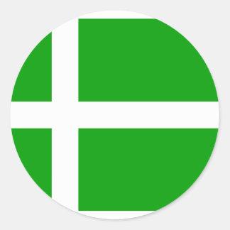 Barra, drapeau du Royaume-Uni Sticker Rond