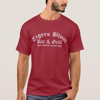 Barre de sang de tigres et T-shirt de gril