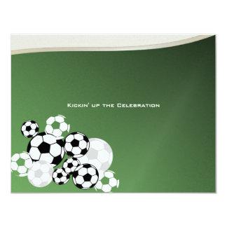Barre d'invitation Mitzvah du football Carton D'invitation 10,79 Cm X 13,97 Cm